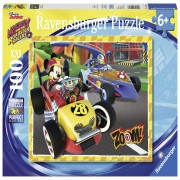 Ravensburger puzzel Disney Mickey Mouse en de Roadster Racers - 100 stukjes