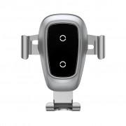 Baseus Trådlösa Laddare Gravity Bilhållare Till Smartphones, Silver