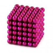 Neocube 216 bile magnetice 5mm Roz