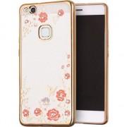 Husa telefon hurtel Bloomy Case designerskie etui żelowy pokrowiec Huawei P10 Lite złoty