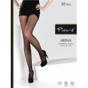 Fiore - Striped fishnet tights Arina 30 DEN