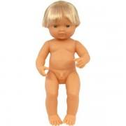 Papusa Bebelus european baiat 38 cm