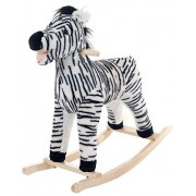 Happy Trails Zebra Plush Rocking Animal Ride On