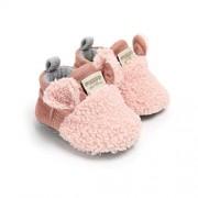 VIENNAR Zapatos de bebé recién nacido para niña, suela suave, antideslizante, para cuna, para recién nacidos, Rosado, 0-6 Months Infant