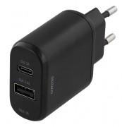 Deltaco Väggladdare 230V till 5V USB, svart