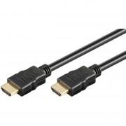 Cablu HDMI cu ethernet Goobay, 19p tata/HDMI 19p tata, conectori auriti, lungime 5 m