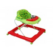 Premergator copii cu roti din silicon Baby Mix BG-1601 Red Green