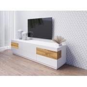 IMS TV stolek Sotano 40, bílá/bílý lesk/wotan