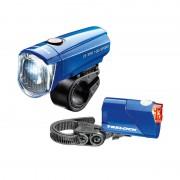 Trelock LS350 I-go Sport + LS710 Reego Fietsverlichting sets blauw 2018 Fietsverlichting batterijen