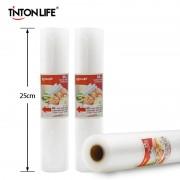 TINTON LIFE Vacuum Packer Bags for Food 25cm*500cm/roll Vacuum Sealer Packing Machine Bags