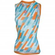 Castelli Women's Pro Mesh Sleeveless Baselayer - Glacier Lake/Orange - L - Blue/Orange