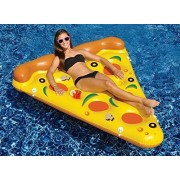"72"" Water Sports Inflatable Pizza Slice Swimming Pool Float By Swim Central"