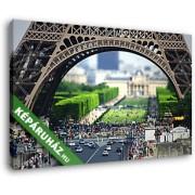 Az Eiffel- torony lábazata napsütésben (40x25 cm, Vászonkép )