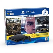 Sony PlayStation 4 Hits 1TB con 3 juegos: Days Gone, Detroit: Become Human, Tom Clancy's Rainbow Six: Siege Bundle Edition