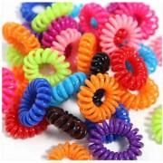 AliExpress 100 stks Elastische Haarbanden Meisjes Haaraccessoires Rubberen Band Hoofddeksels Kleurrijke Touw Spiraal Vorm Haar Banden Gom Telefoon Wire
