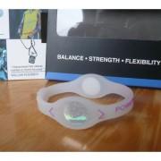 Balanční náramek s hologramem Power Balance - průhledný-fialový