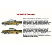 1957 Chevy Bel Air, Molten Gold - Castline M2 40300/51B - 1/24 Scale Diecast Model Toy Car