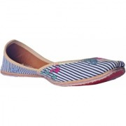 MSC Hand Embroidered Genuine Leather Multi color Juttis