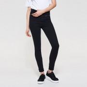 House - Jeansy slim fit z asymetrycznymi zamkami - Czarny