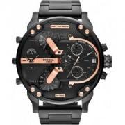 Montre Homme Diesel Mr Daddy 2.0 Dz7312 Bracelet Acier Noir Et Rehauts Or Rose