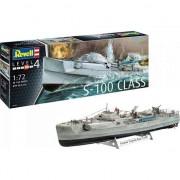 Modelul de plastic german barca rapid atacator Meșteșug 100 S-Class
