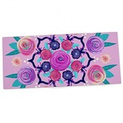 Anneline Sophia Expressive Blooms Mandala Pink Floral Office Desk Mat Mouse Pad 13 x 22 (AS1031ADP01)