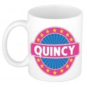 Shoppartners Voornaam Quincy koffie/thee mok of beker Multi
