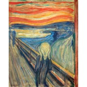 Puzzle din lemn Michele Wilson - Edvard Munch: The Scream, 24 piese dificile (12131)