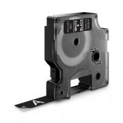 Dymo D1 DY45021 laminált feliratozó szalag 12mm fehér/fekete