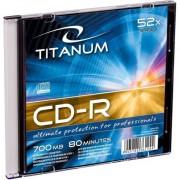 Medii de stocare esperanza CD-R TITANUM caz bijuterie subtire 1 700MB 52x bucati de carton 200 (2029)