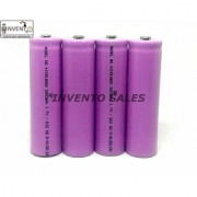 Invento 4pcs 3.7V 2800mah 18650 Li-ion Rechargeable Battery Cell with 2pcs 2 cell 18650 Plug Universal Li-ion Charger