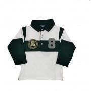 Tricou polo pentru baiat culoare alb/bleumarin, Mayoral, 9luni