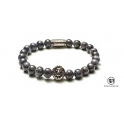 Rebel and Rose Armband Grey Seduction Silver 19 cm RR-8L025-S