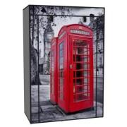 Vászon tároló szekrény, ruhás 158 x 45 x 105 cm Telephone