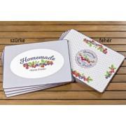 B.B.1005121 Parafa tányéralátét 4db-os 40x29cm Homemade, szürke háttér/fehér háttér
