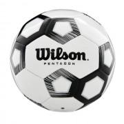 Minge fotbal Wilson Pentagon, marime 5, alb/negru
