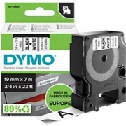 Dymo D1 Labelling Tape 45803 Black on White 19 mm x 7 m
