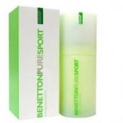 Benetton pure sport 100 ml eau de toilette edt profumo uomo