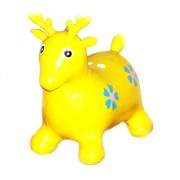 Tickles Yellow Jumping Deer (Inflatable Space Hopper, Jumping Deer, Ride-on Bouncy Animal) Stuffed Soft Plush Toy Love Girl 57 cm