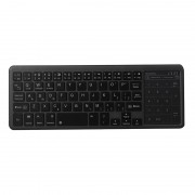 Slim Bluetooth Keyboard Numeric Key Touch Pad for iOS Android Windows - Black