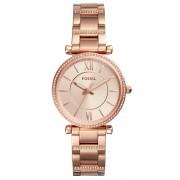 Fossil Horloge Carlie staal 35 mm rosékleurig ES4301