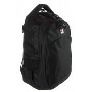 2+1 részes fekete textil hátizsák Adventurer