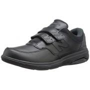 New Balance Men's MW813V1 Hook and Loop Walking Shoe, Black, 15 D US