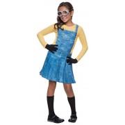 Meisjes minion kostuum