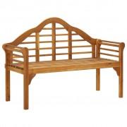 vidaXL Bancă de grădină cu 2 locuri, lemn masiv de acacia