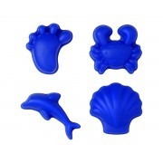Scrunch Set de Moldes de Arena Azul Oscuro