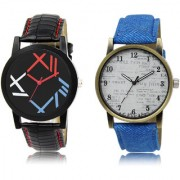 The Shopoholic Black White Combo Stylist Designer Combo Pack 2 Black And White Dial Analog Watch For Boys Formal Watches For Men