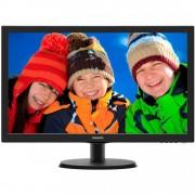 "Monitor 21.5"" PHILIPS 223V5LSB, FHD 1920*1080, TN, 16:9, WLED, 5 ms, 250 cd/m2, 10M:1/ 1000:1, 170/160, D-SUB, DVI, VESA, Kensington lock, Black"