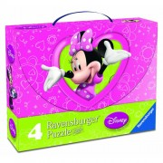 Puzzle Minnie Mouse, 2x25 piese/2x36 piese, RAVENSBURGER