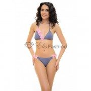 Costum de Baie Flower Ad Grey